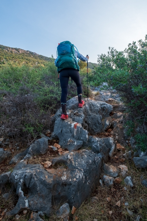 Rocky terrain on the Lycian Way