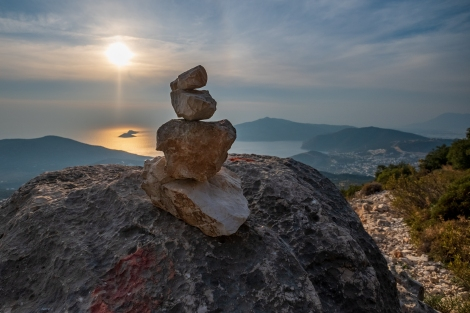 A helpful cairn on the Lycian Way