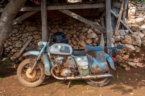 A retro motorbike