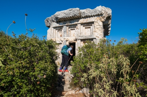 Exploring Phellos ruins on the Lycian Way