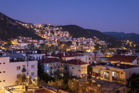 Night view of Kaş from our pension