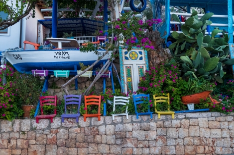 Leaving the vibrant town of Kaş
