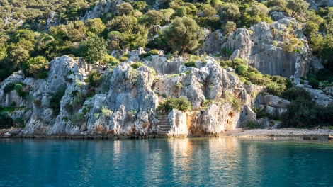 Passing the Sunken City of Kekova