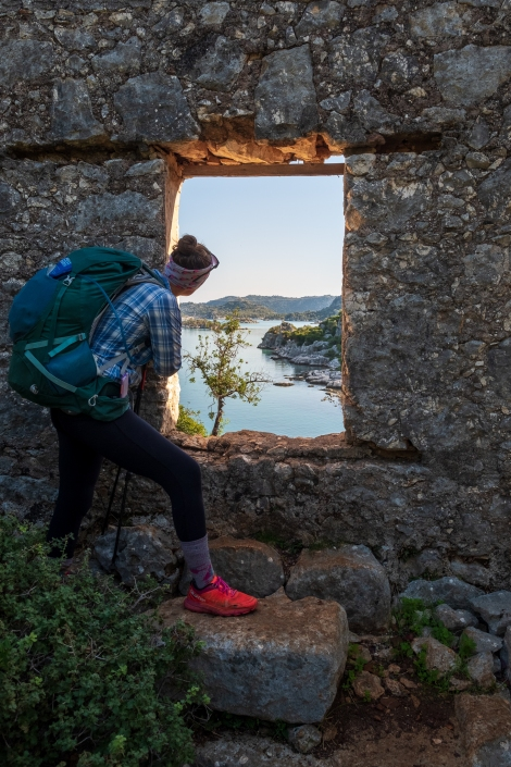 A room with a view - medieval castle ruins on the Lycian Way
