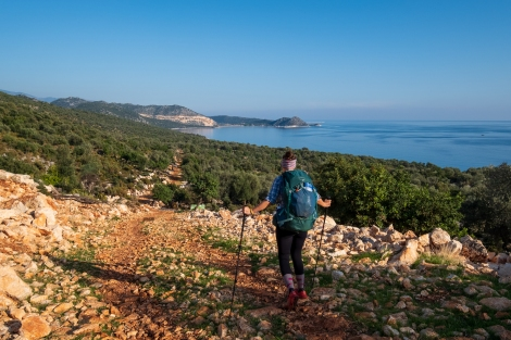 We continue the Lycian Way by foot