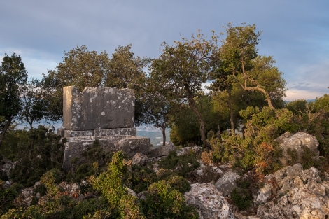 Ancient tombs on the Lycian Way