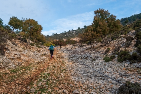 We've got quite a climb today on the Lycian Way
