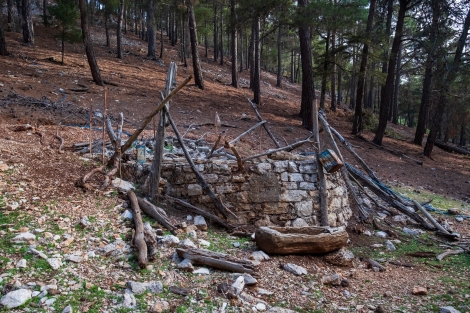 Passing a well on the Lycian Way