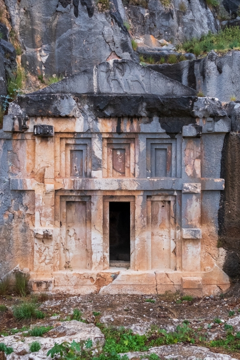 Rock tombs in the ancient Lycian city of Myra (now Demre)