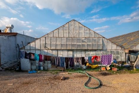 Passing greenhouses in Mavikent
