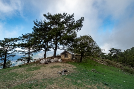A mountaintop shepherd's hut on the Lycian Way