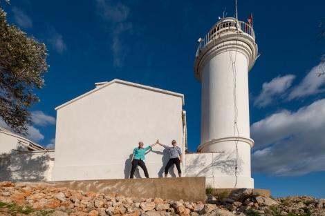 Celebrating our finish at the Gelidonya lighthouse