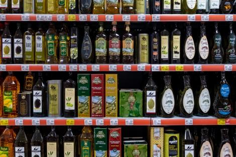 Olive oil in a supermarket in Fethiye