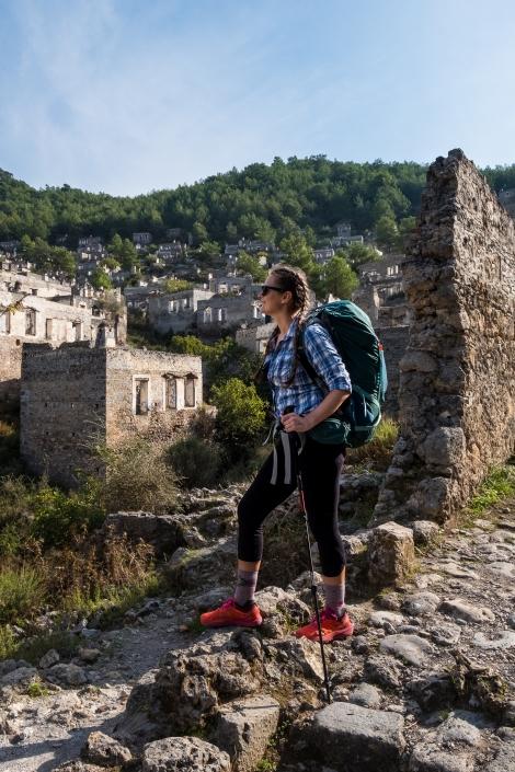 Sarah at Kayaköy ghost town