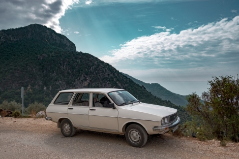 Retro cars on the Lycian Way