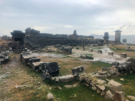 What a shame about the weather as we pass Xanthos Ruins