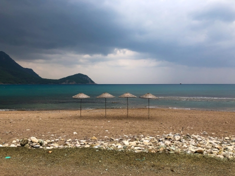 Passing by the beach in Karaöz, just before the rain (iPhone)