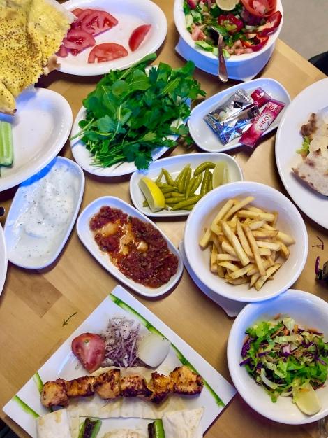 Dinner at a nearby restaurant called Köfteci Ali in Göynük