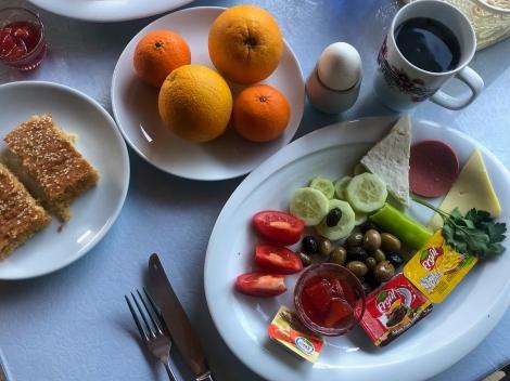 Our final Lycian Way breakfast (iPhone)