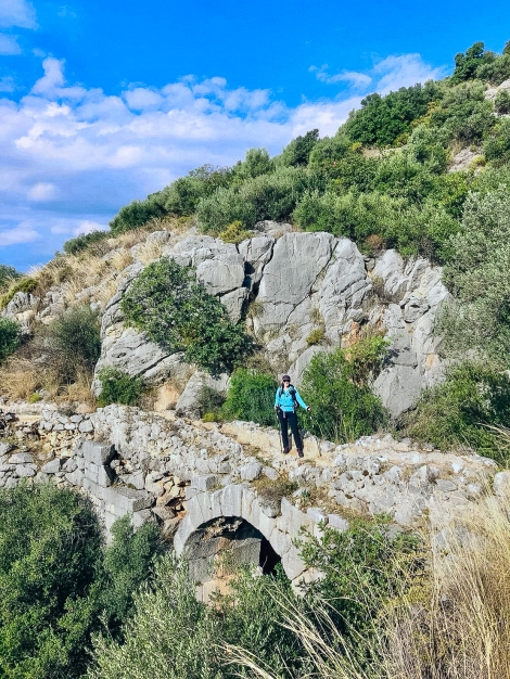 Me on an ancient Roman aqueduct on the Lycian Way